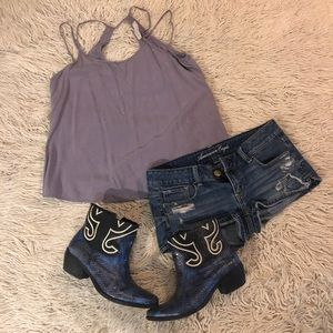 URBAN OUTFITTERS Distressed multi strap BOHO Cami